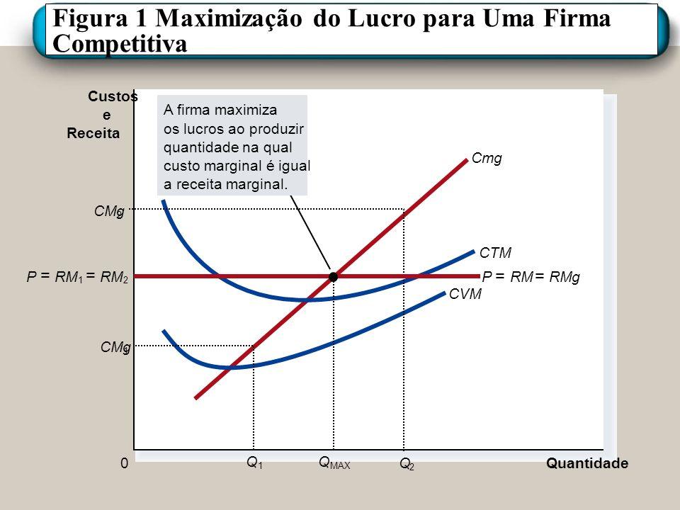 Figura 1 Maximização do Lucro para Uma Firma Competitiva
