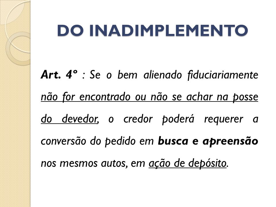 DO INADIMPLEMENTO