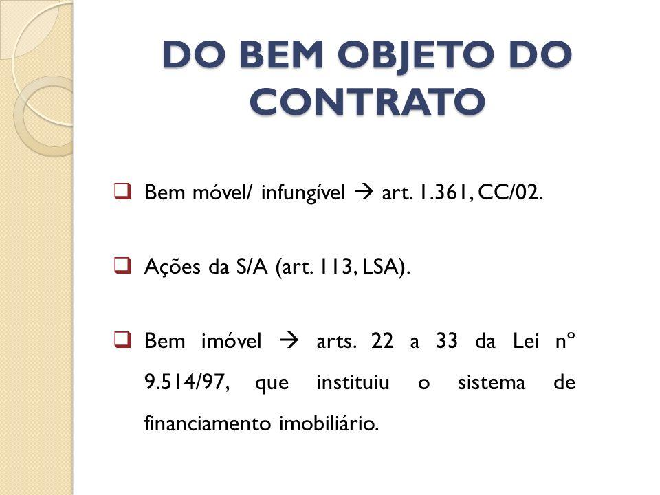 DO BEM OBJETO DO CONTRATO