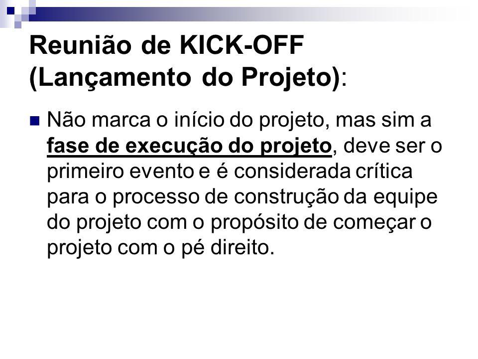 Reunião de KICK-OFF (Lançamento do Projeto):