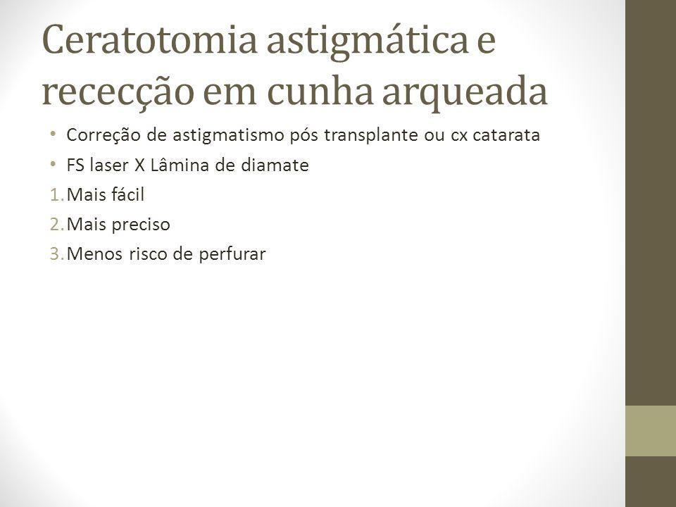 Ceratotomia astigmática e rececção em cunha arqueada