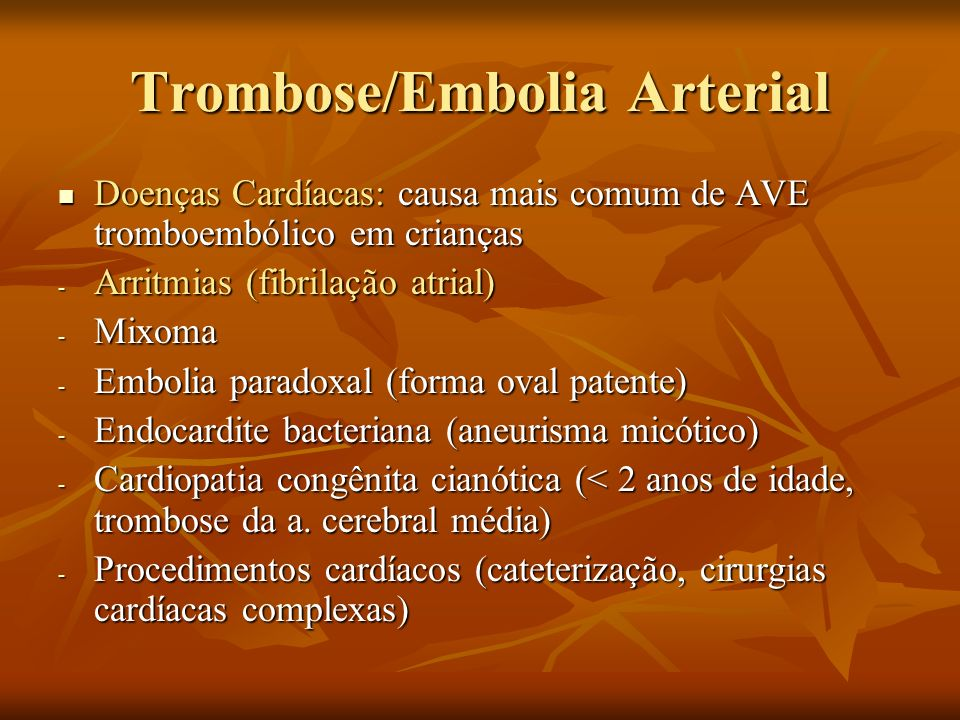 Trombose/Embolia Arterial