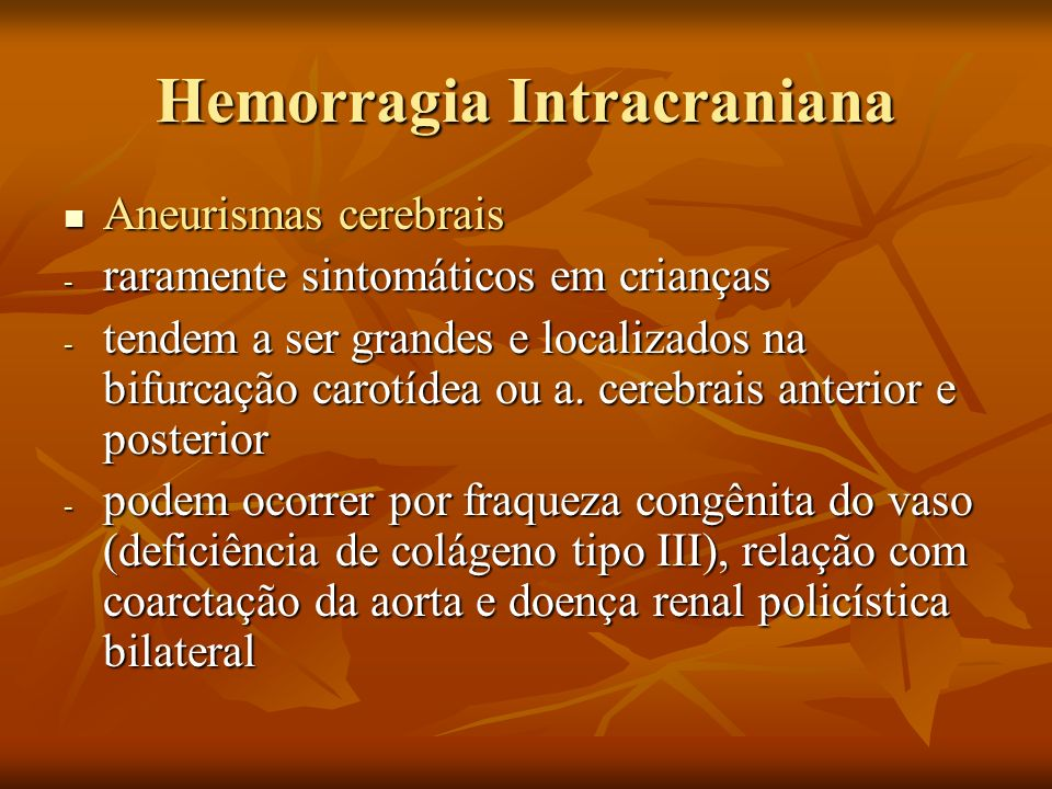 Hemorragia Intracraniana