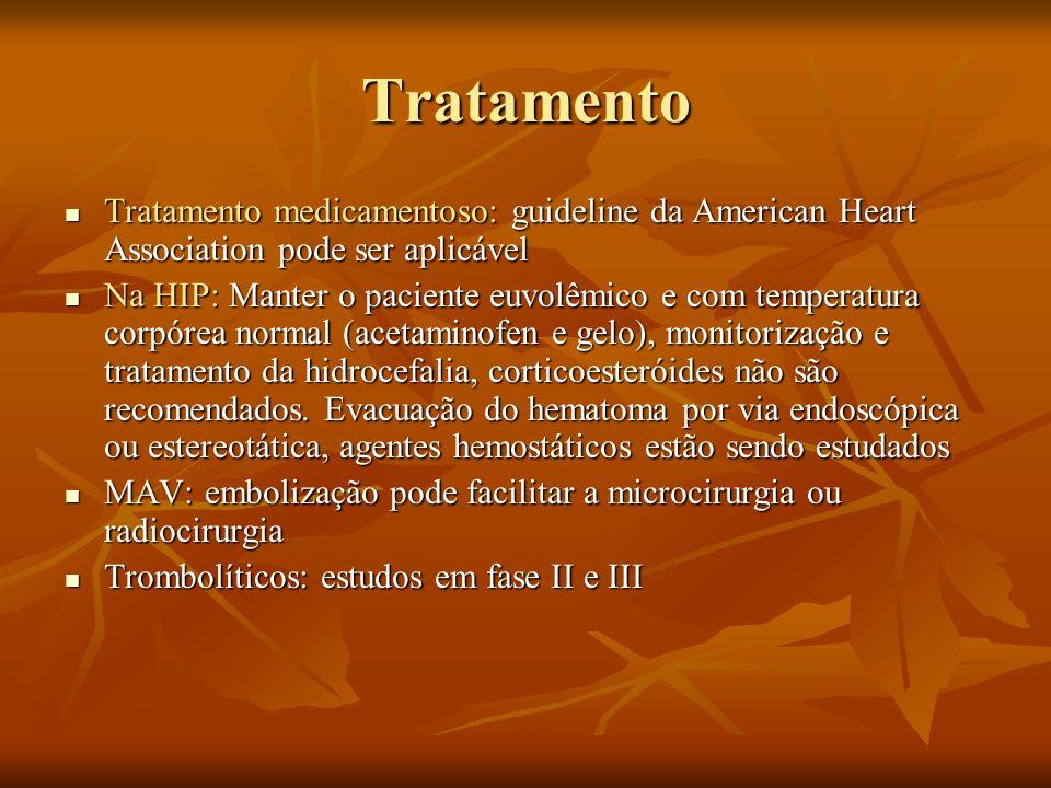 Tratamento Tratamento medicamentoso: guideline da American Heart Association pode ser aplicável.
