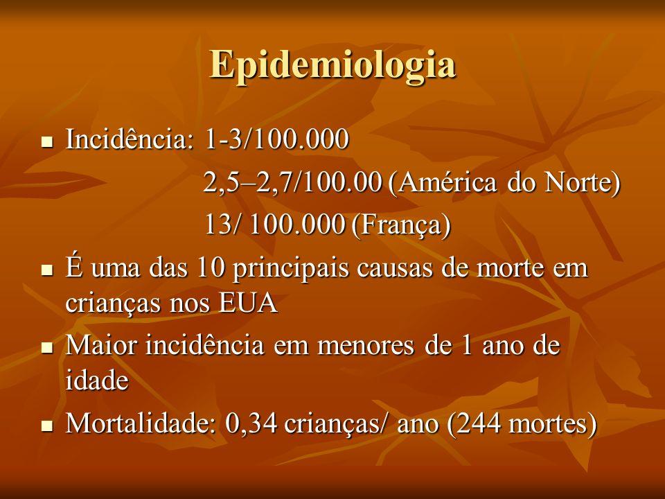 Epidemiologia Incidência: 1-3/100.000