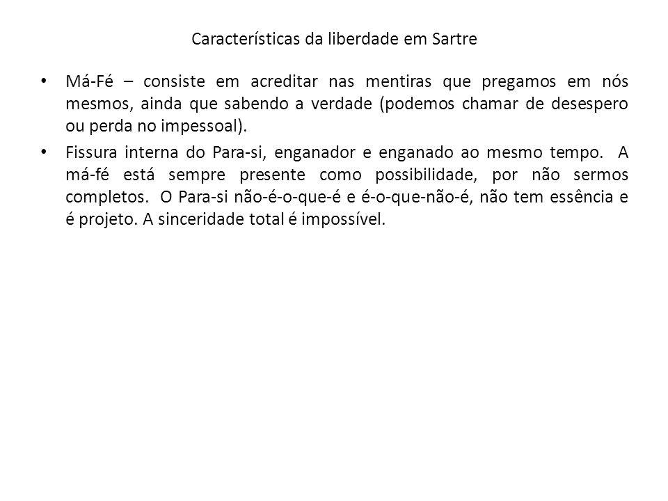 Características da liberdade em Sartre