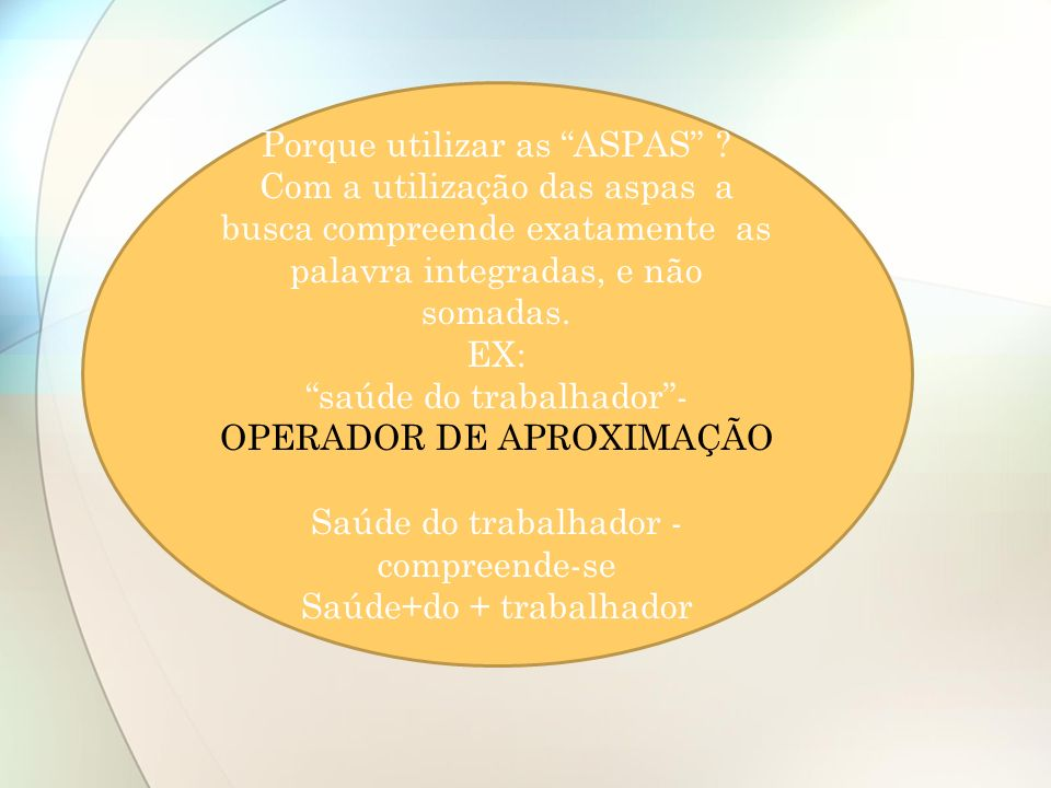 Porque utilizar as ASPAS