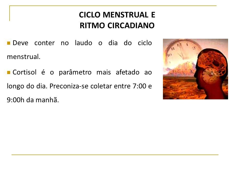 CICLO MENSTRUAL E RITMO CIRCADIANO