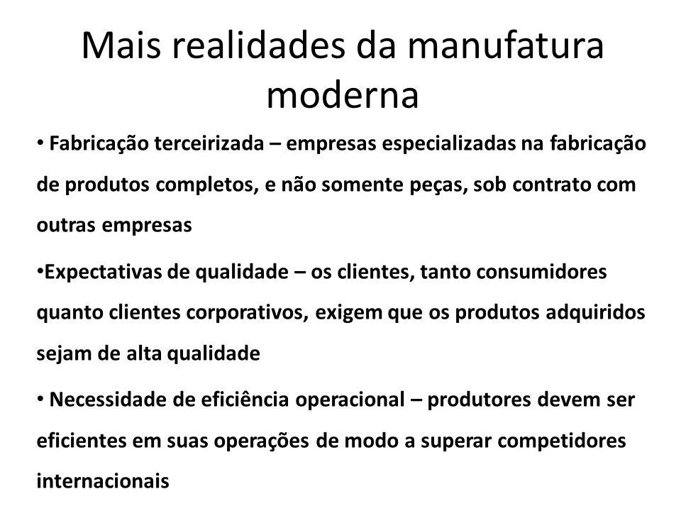 Mais realidades da manufatura moderna