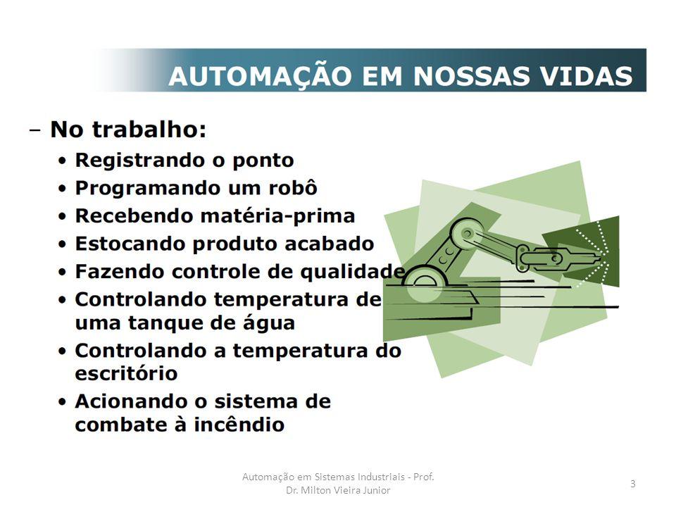 Automação em Sistemas Industriais - Prof. Dr. Milton Vieira Junior
