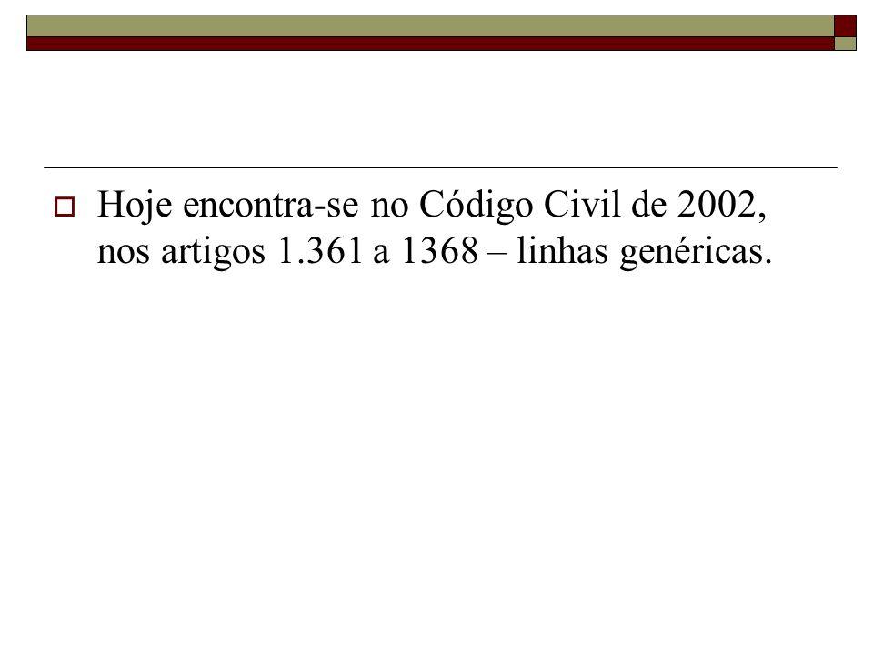 Hoje encontra-se no Código Civil de 2002, nos artigos 1