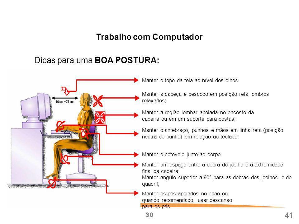 Trabalho com Computador