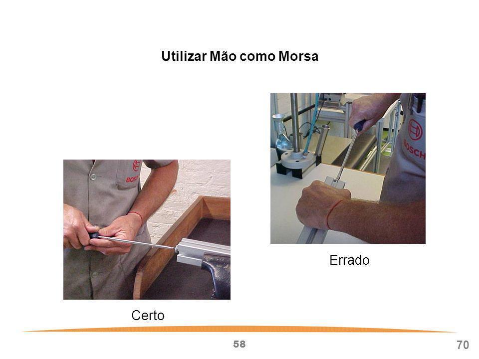 Utilizar Mão como Morsa