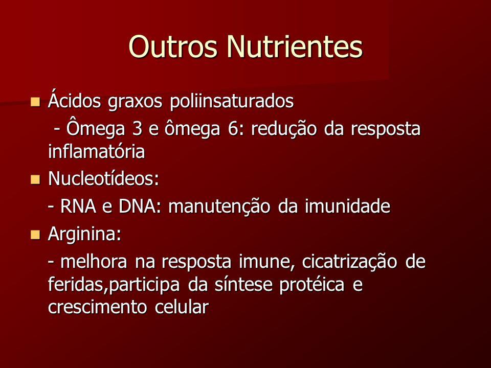 Outros Nutrientes Ácidos graxos poliinsaturados
