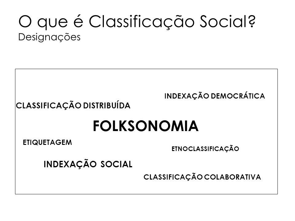 O que é Classificação Social Designações
