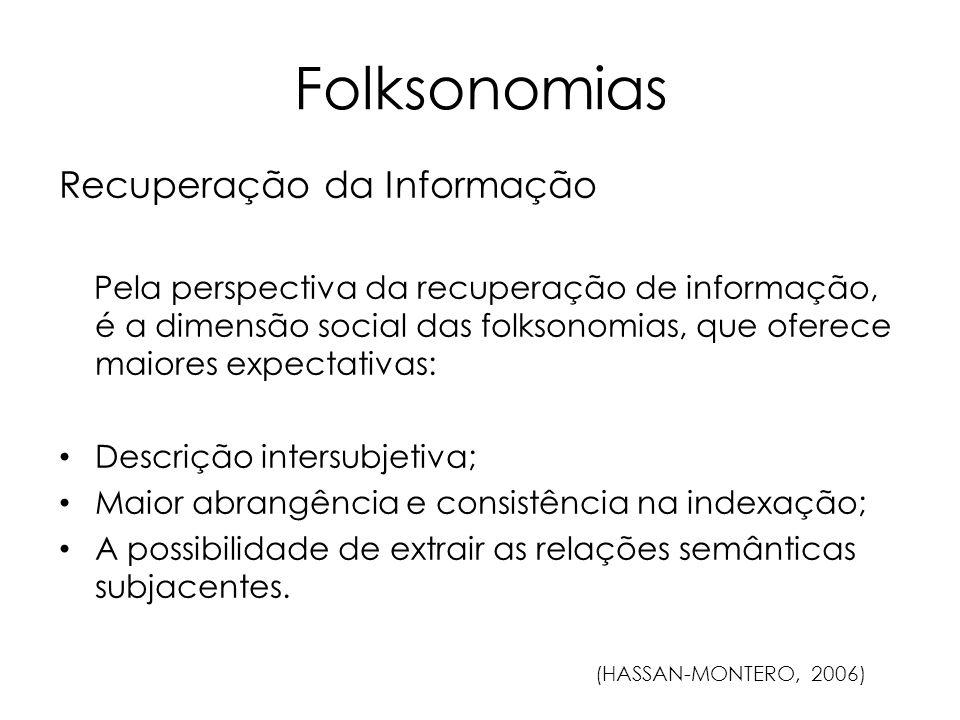 Folksonomias Recuperação da Informação