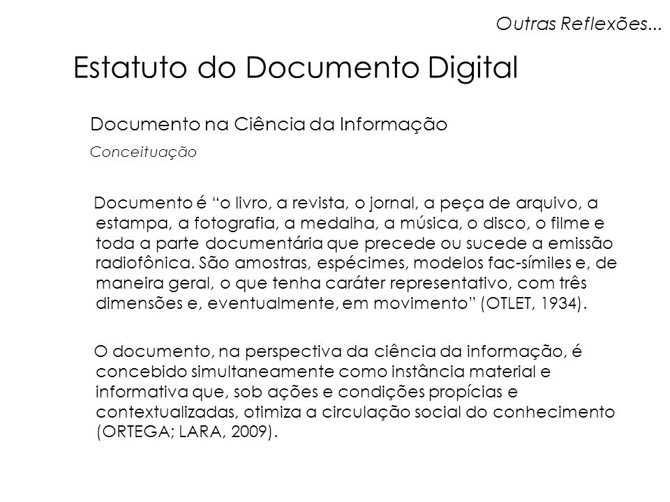 Estatuto do Documento Digital