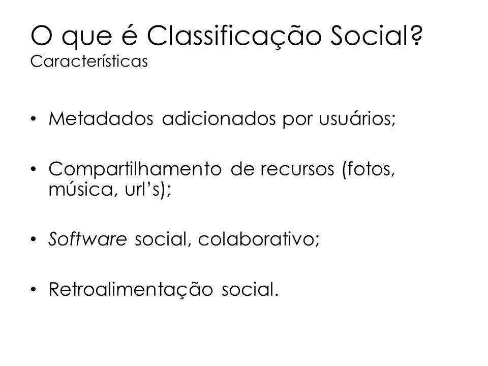 O que é Classificação Social Características