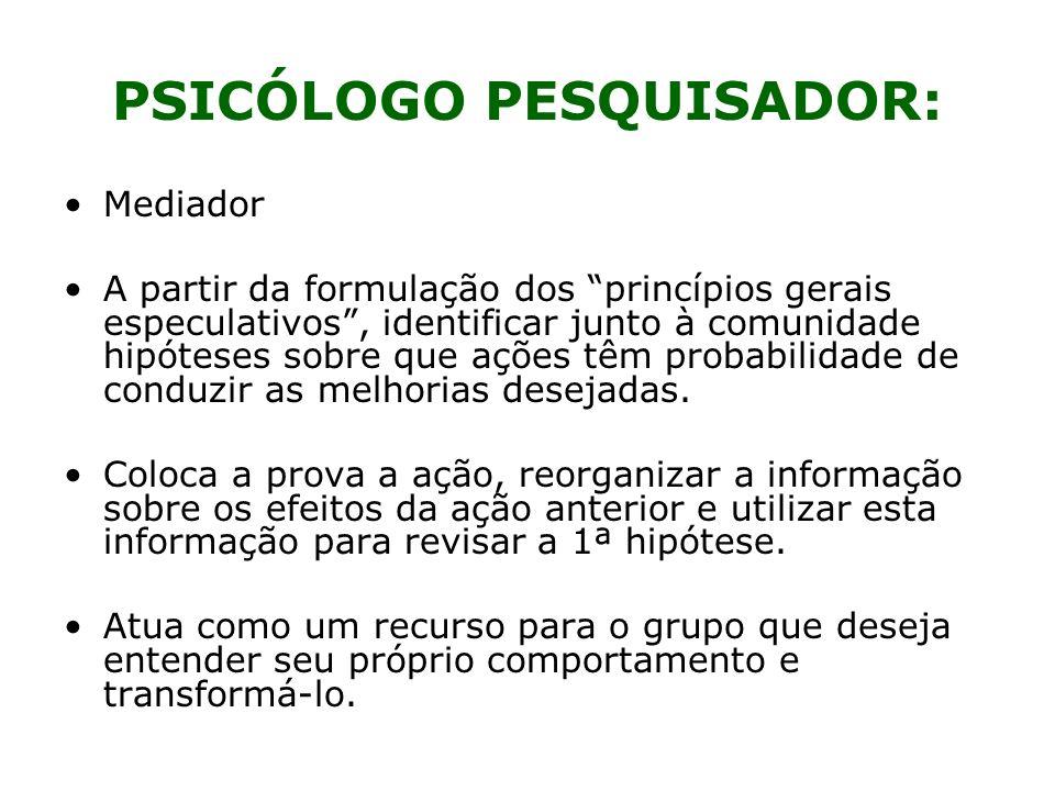PSICÓLOGO PESQUISADOR: