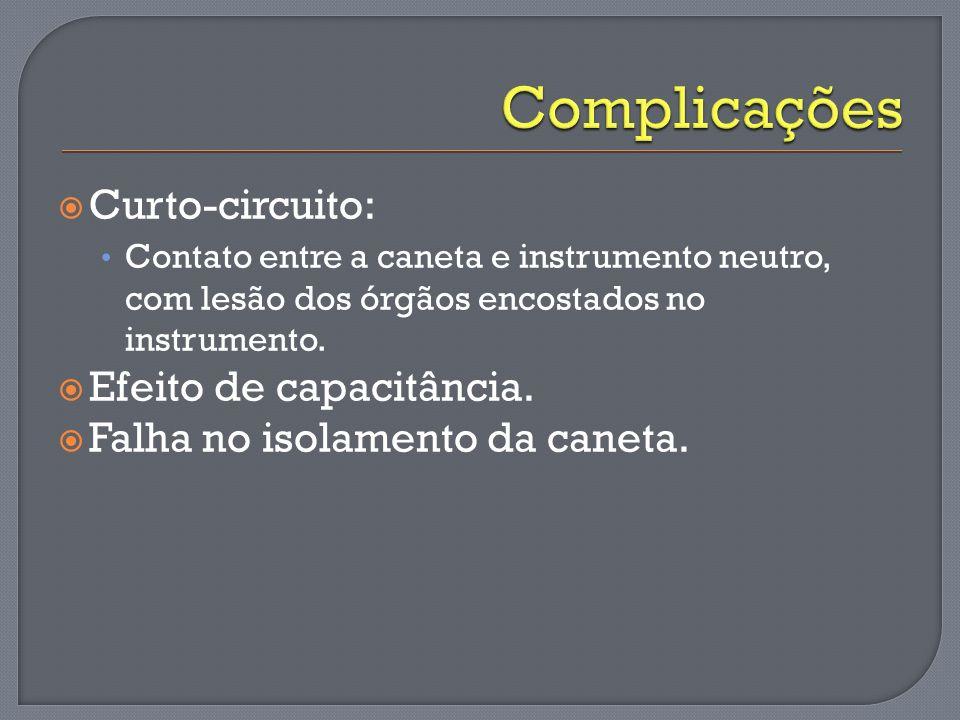 Complicações Curto-circuito: Efeito de capacitância.