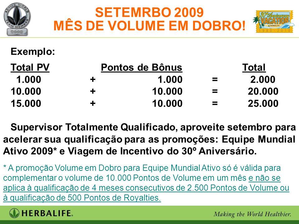 SETEMRBO 2009 MÊS DE VOLUME EM DOBRO*!