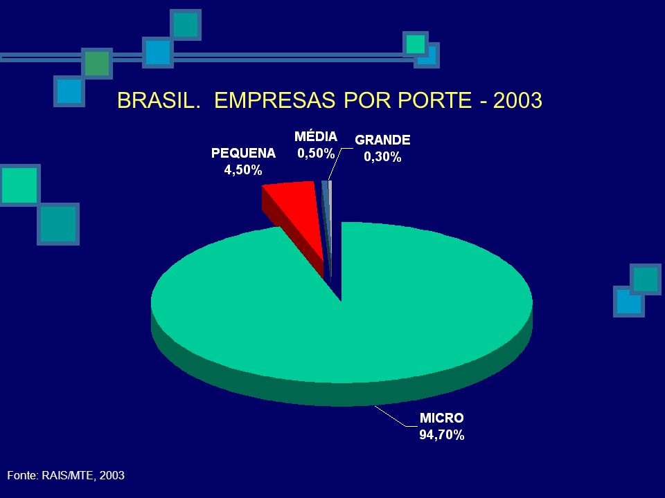 BRASIL. EMPRESAS POR PORTE - 2003