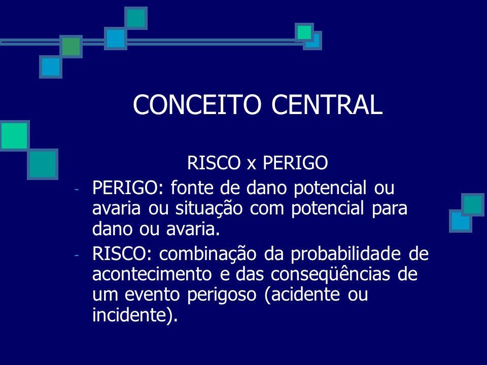 CONCEITO CENTRAL RISCO x PERIGO