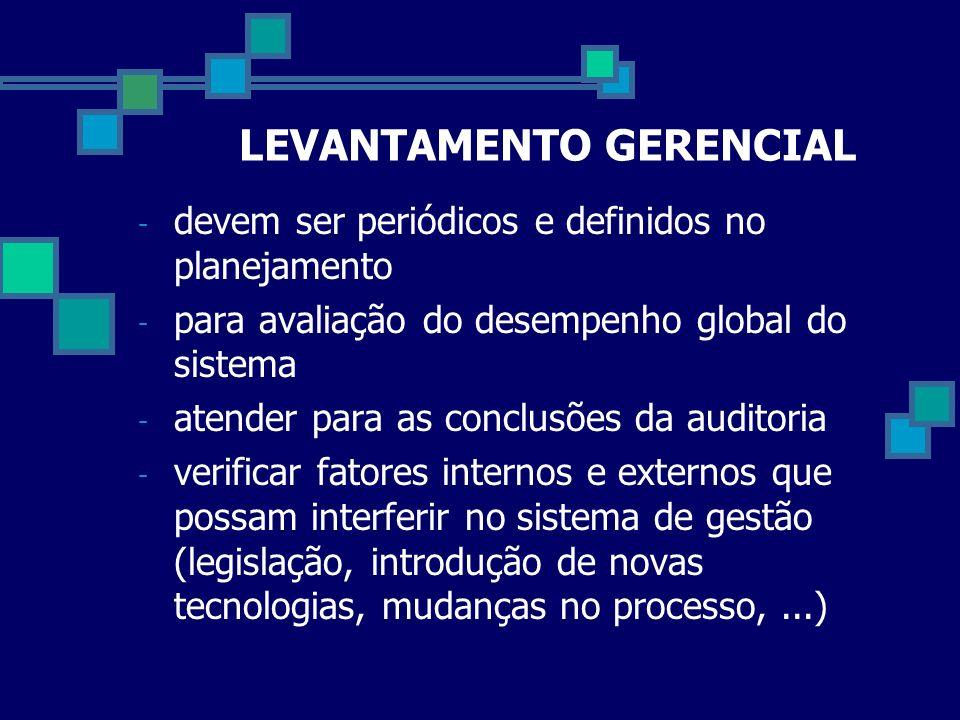 LEVANTAMENTO GERENCIAL