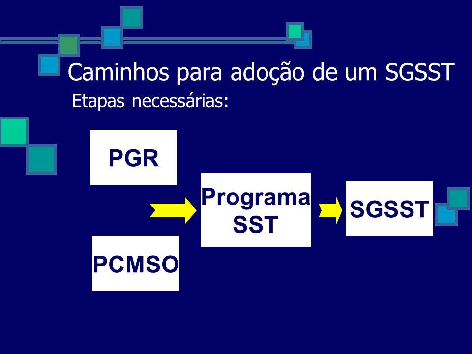 Caminhos para adoção de um SGSST