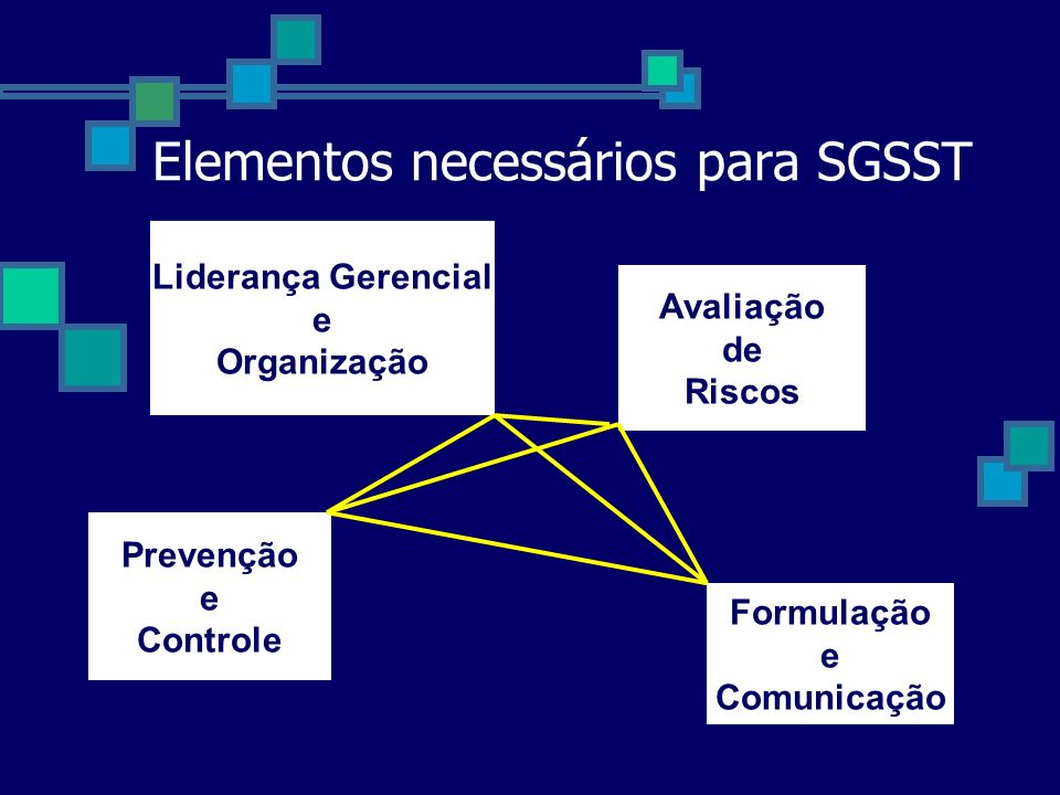 Elementos necessários para SGSST