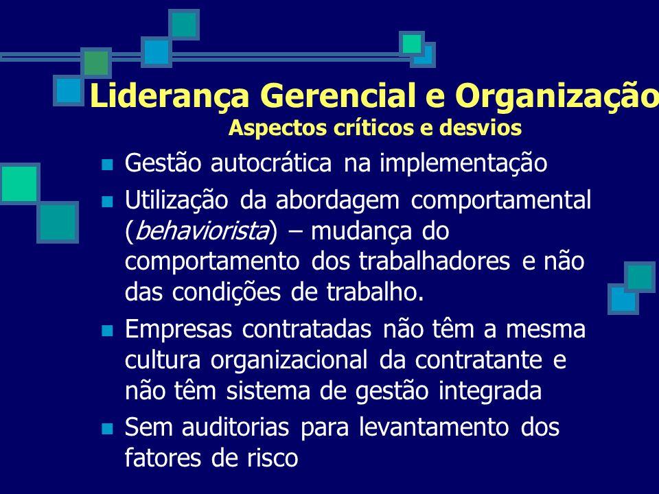 Liderança Gerencial e Organização Aspectos críticos e desvios