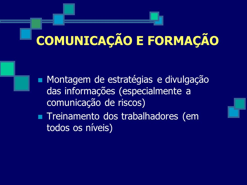 COMUNICAÇÃO E FORMAÇÃO