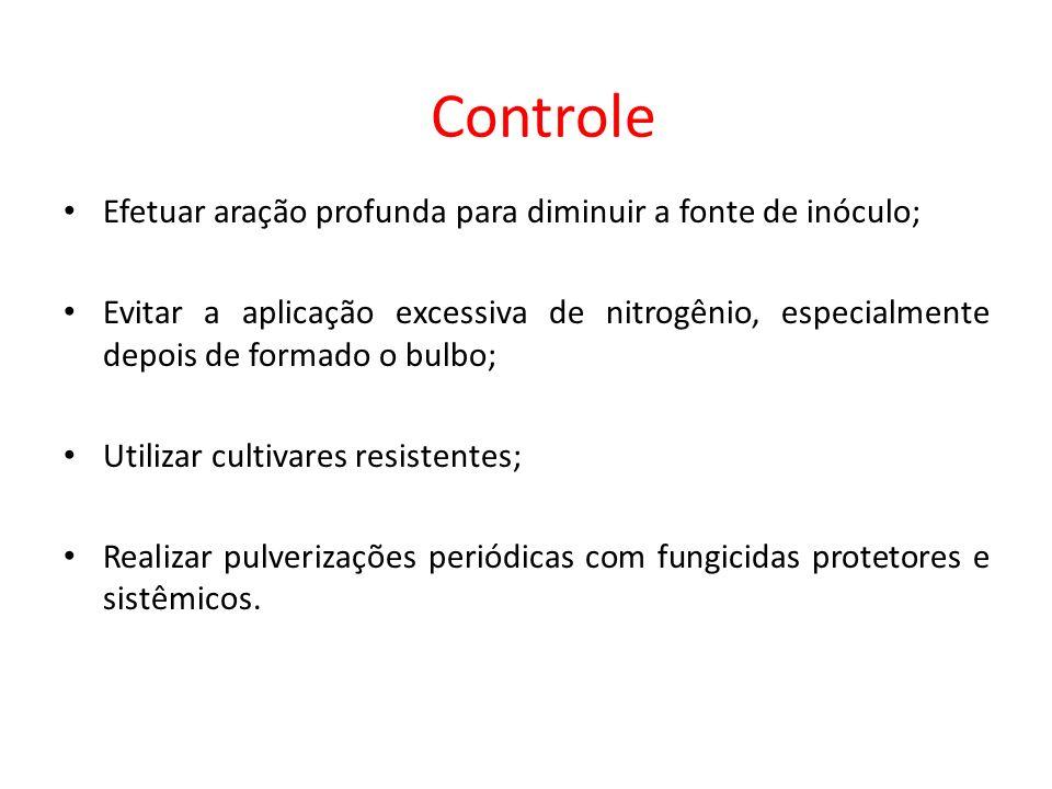 Controle Efetuar aração profunda para diminuir a fonte de inóculo;
