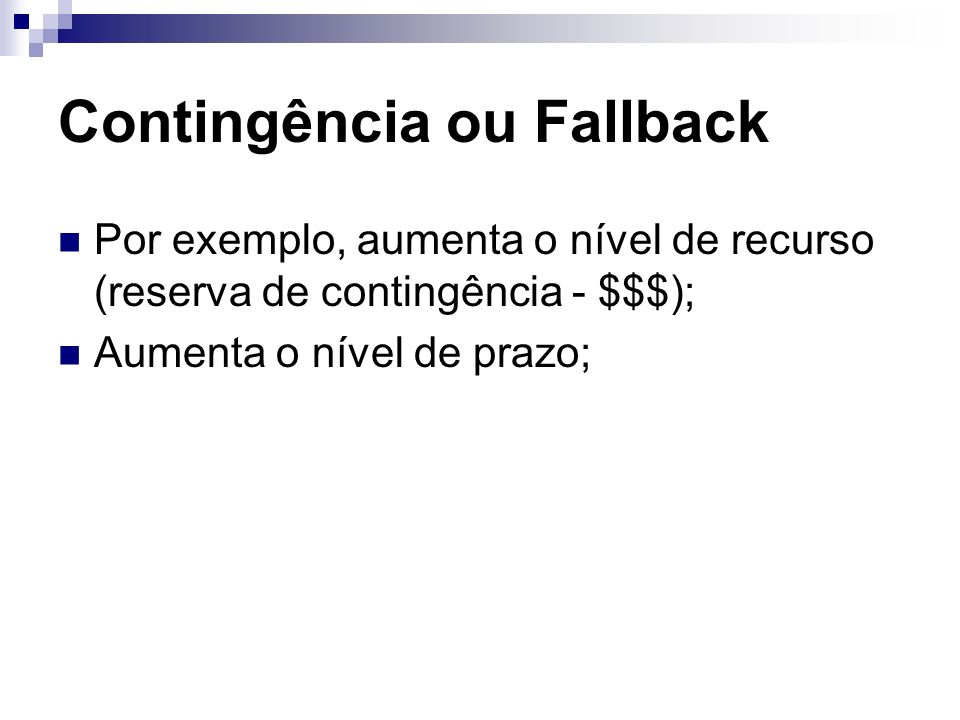 Contingência ou Fallback