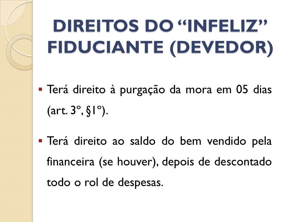 DIREITOS DO INFELIZ FIDUCIANTE (DEVEDOR)