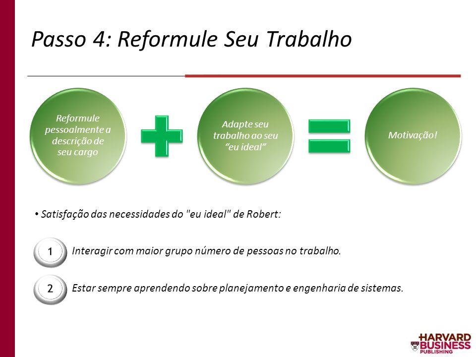 Passo 4: Reformule Seu Trabalho