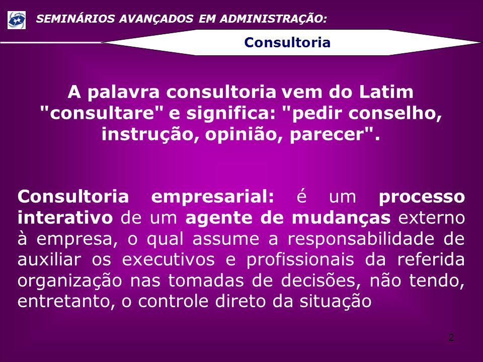 SEMINÁRIOS AVANÇADOS EM ADMINISTRAÇÃO: