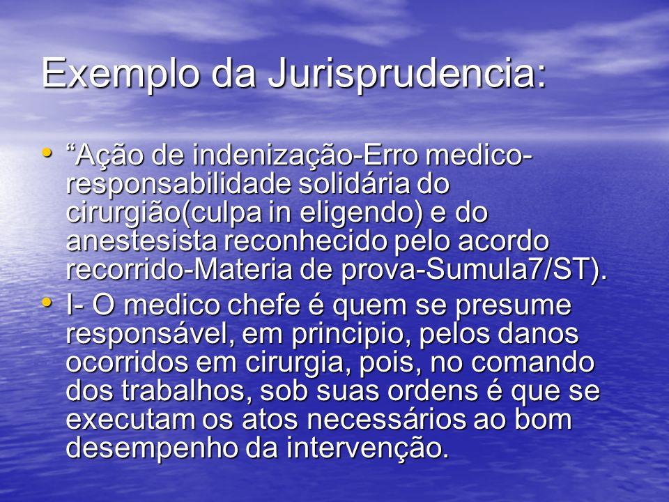 Exemplo da Jurisprudencia: