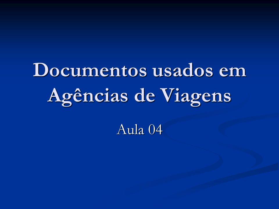 Documentos usados em Agências de Viagens