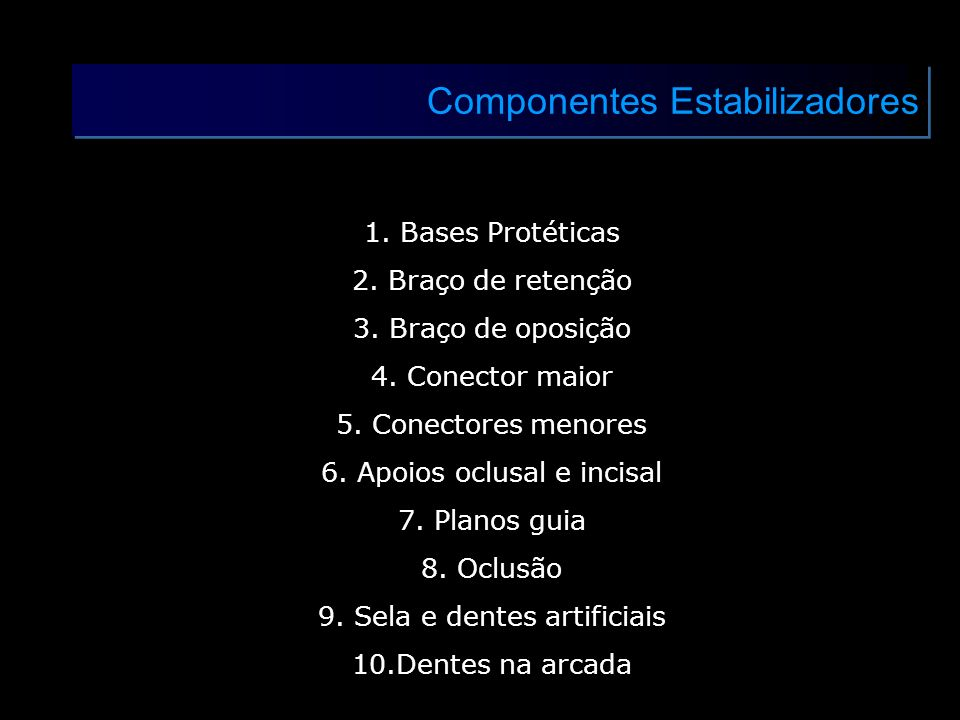 Componentes Estabilizadores