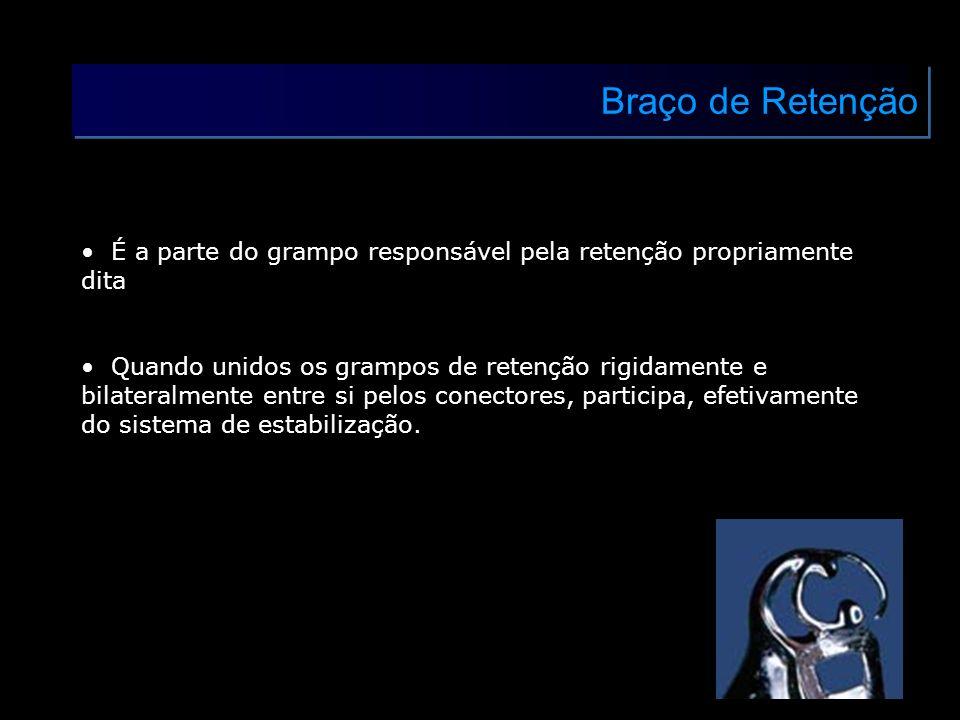 Braço de RetençãoÉ a parte do grampo responsável pela retenção propriamente dita.