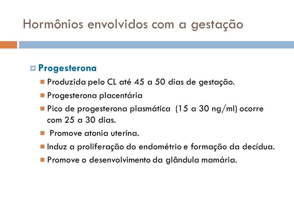 Hormônios envolvidos com a gestação