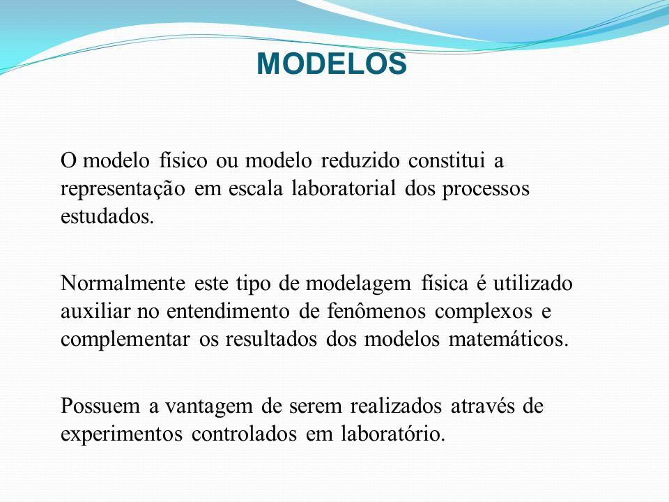 MODELOSO modelo físico ou modelo reduzido constitui a representação em escala laboratorial dos processos estudados.