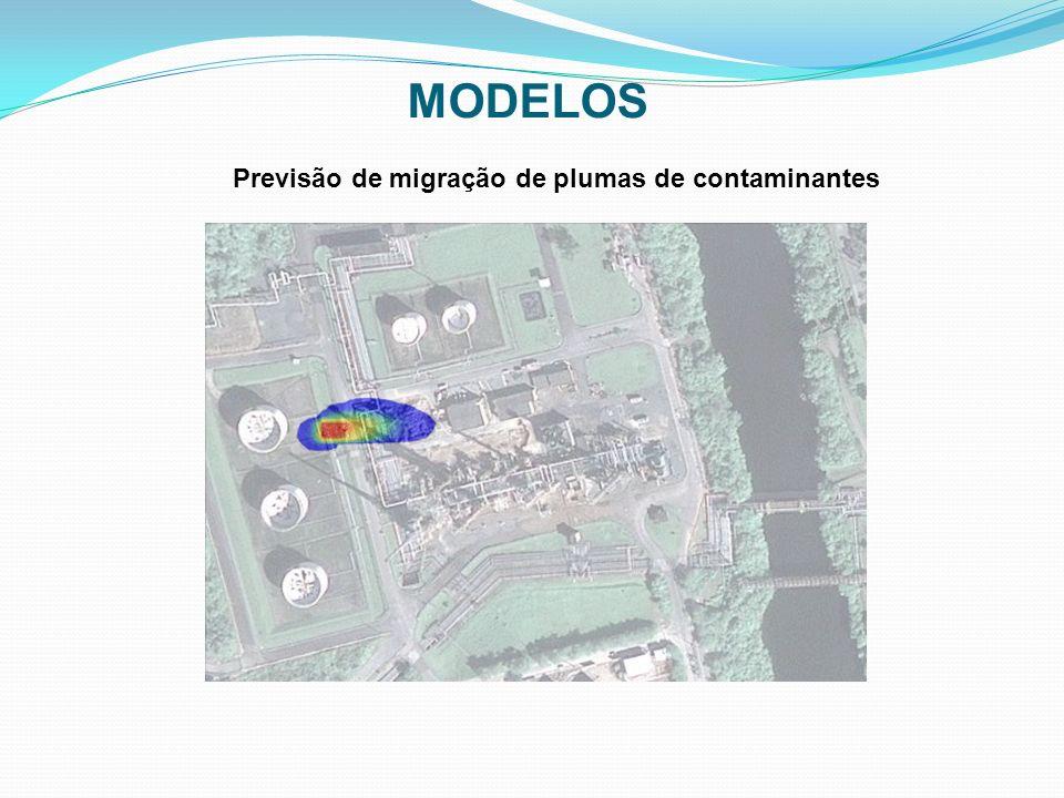 MODELOS Previsão de migração de plumas de contaminantes