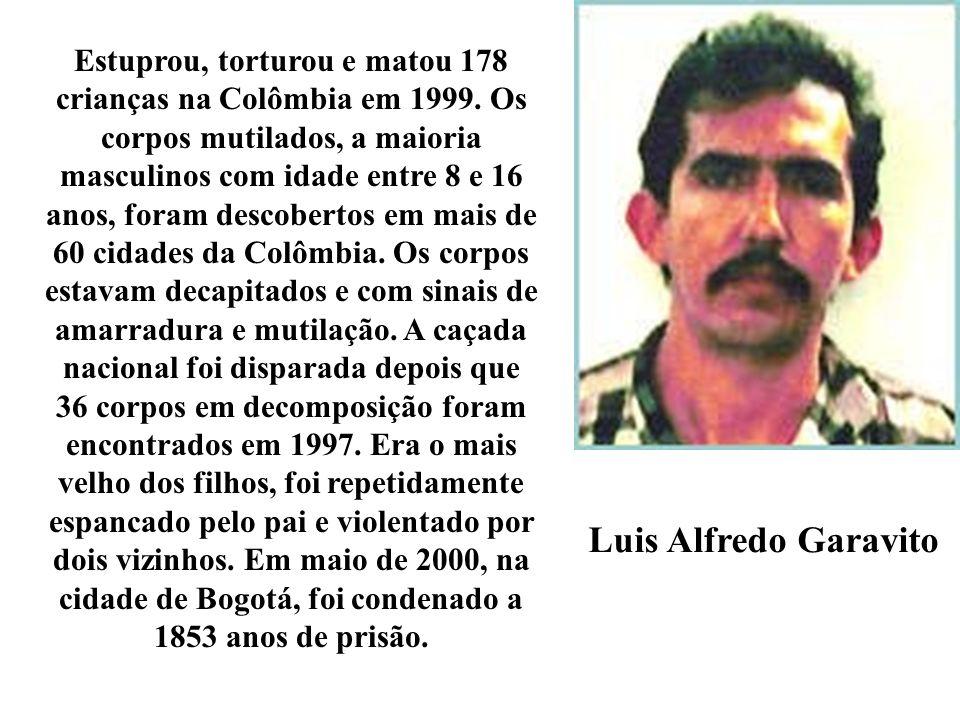 Estuprou, torturou e matou 178 crianças na Colômbia em 1999