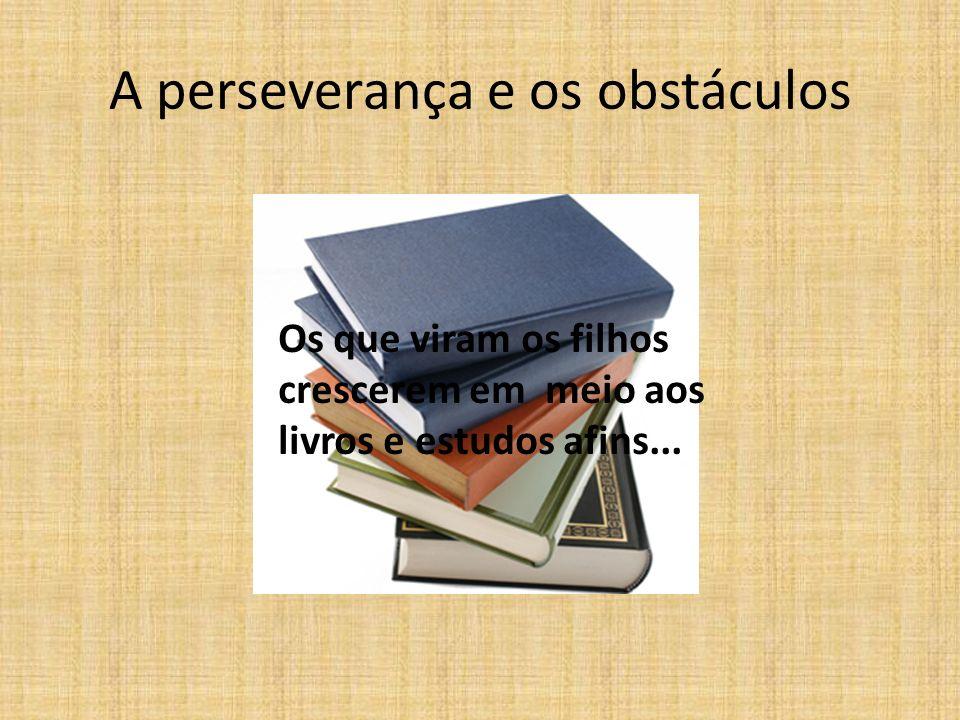 A perseverança e os obstáculos