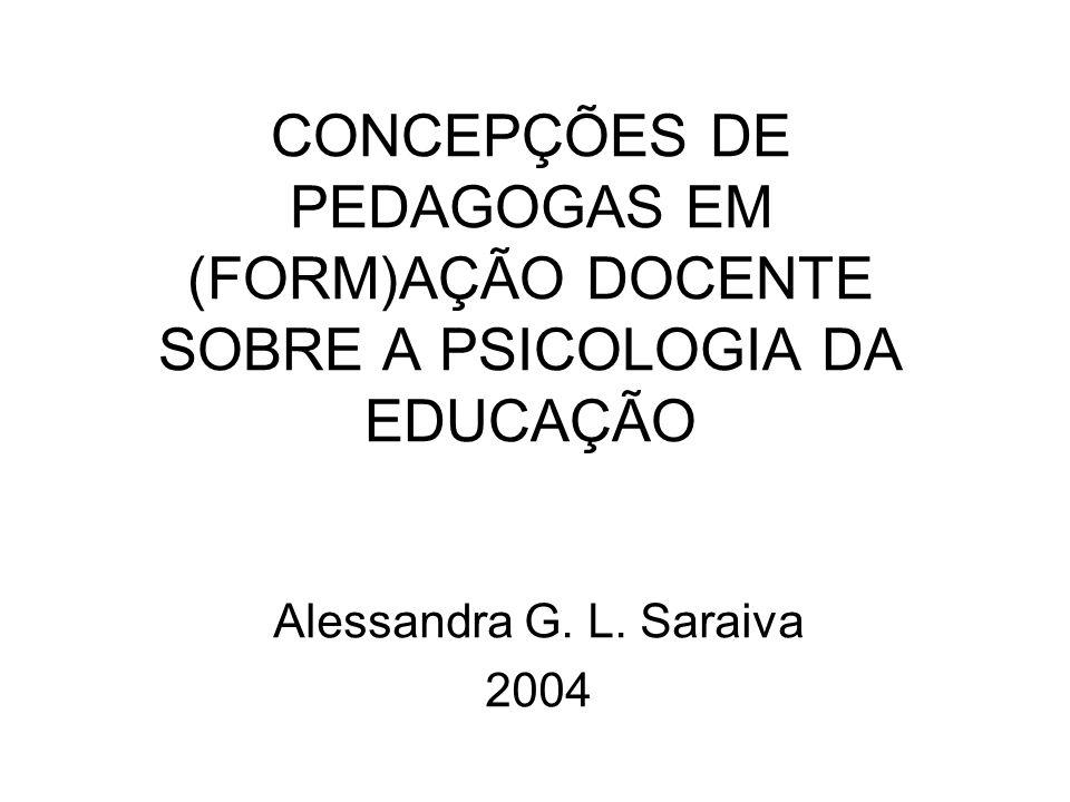 CONCEPÇÕES DE PEDAGOGAS EM (FORM)AÇÃO DOCENTE SOBRE A PSICOLOGIA DA EDUCAÇÃO