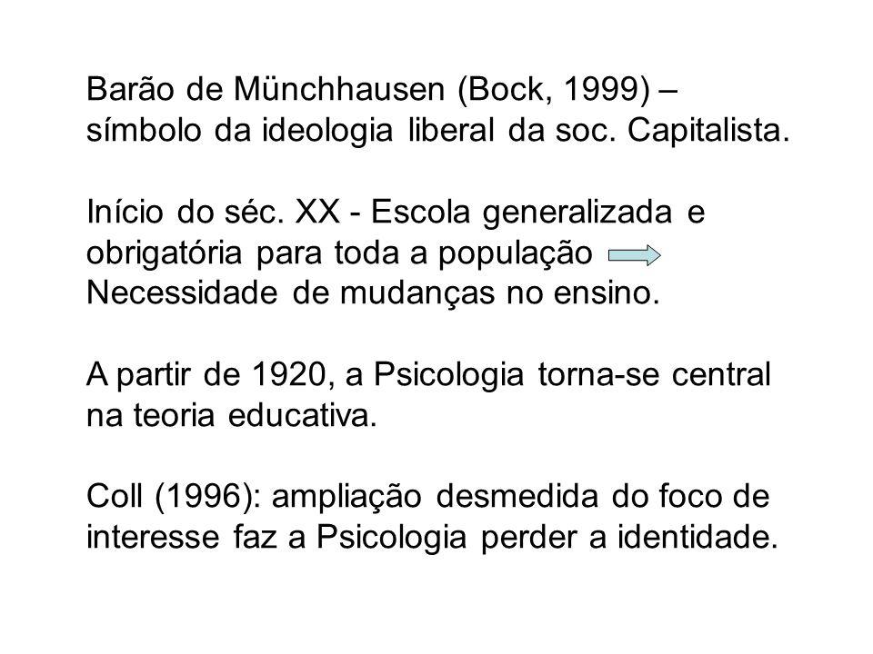 Barão de Münchhausen (Bock, 1999) – símbolo da ideologia liberal da soc. Capitalista.