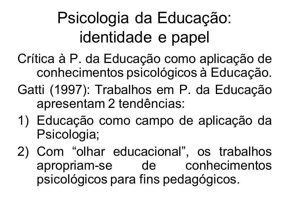 Psicologia da Educação: identidade e papel