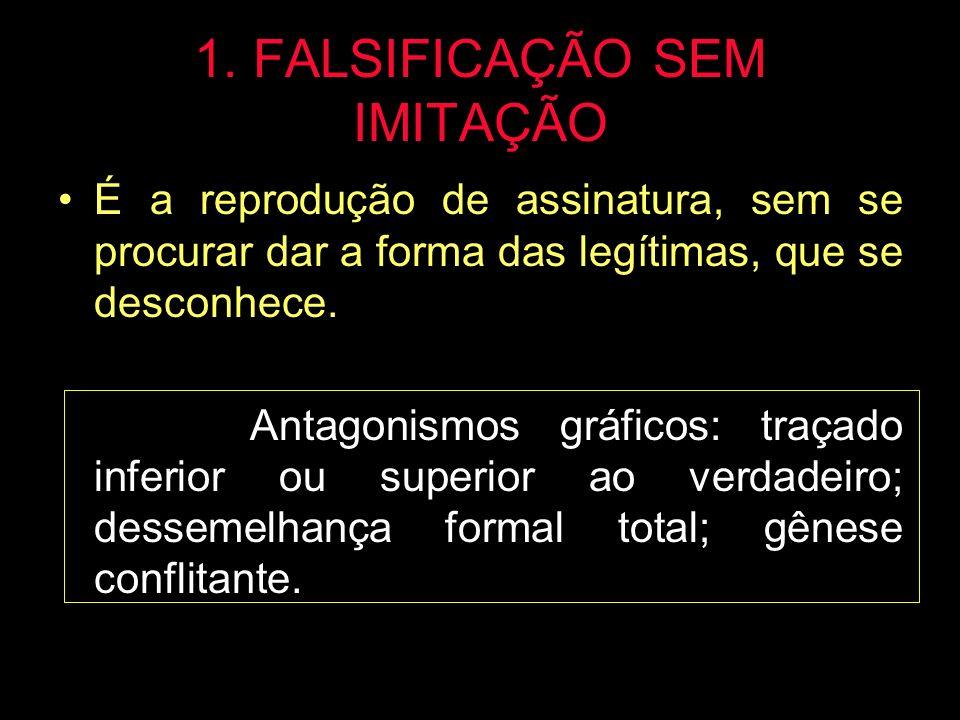 1. FALSIFICAÇÃO SEM IMITAÇÃO